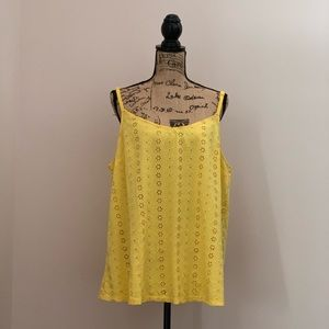 Torrid Yellow Eyelet Adjustable Straps Tank Size 3